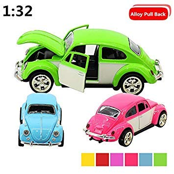 1 32 Beatles Classic Cars, with Sound and Light Back to Power, Three Open Alloy car Model Toys