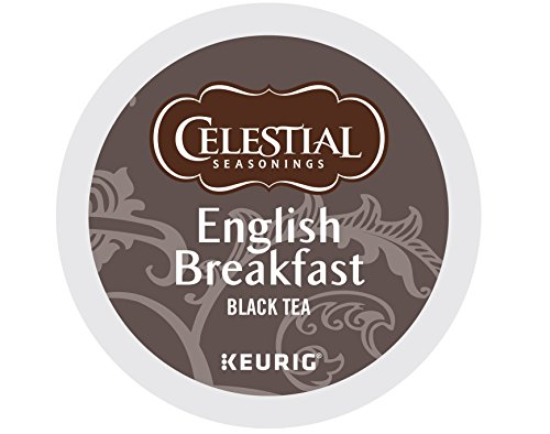 Celestial Seasonings Black Caffeine Free Tea (Celestial Seasonings English Breakfast Tea, Keurig K-Cups, 72 Count)