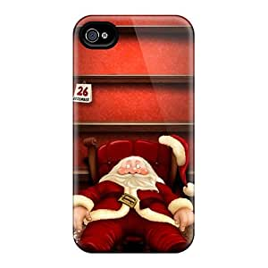 Tpu Shockproof/dirt-proof Santa After Christmas Shelves Cover Case For Iphone(4/4s)