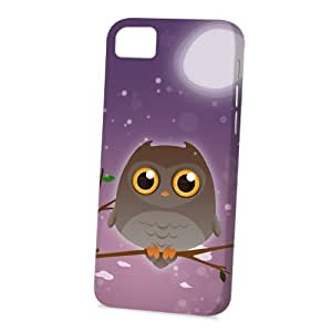 Case Fun Apple iPhone 5 / 5S Case - Vogue Version - 3D Full Wrap - Brown Owl by DevilleART