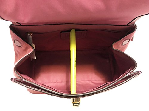 Faye Coach Leather F22348 Purse Crossbody Rouge Carryall ZZqrw5C