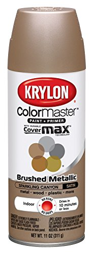 Krylon K05125207 ColorMaster Paint + Primer, Brushed Metallic, Satin, Sparkling Canyon, 11 oz.
