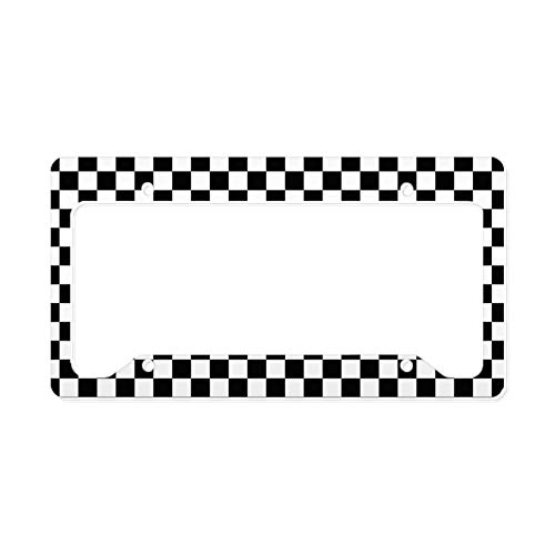 Racing Flags License Plate - CafePress Racing Aluminum License Plate Frame, License Tag Holder