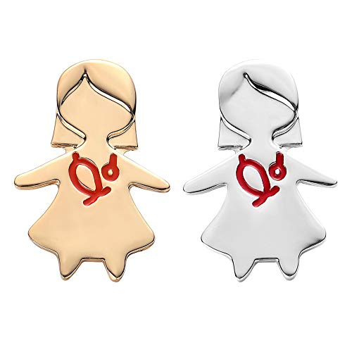 - hanreshe Cute Nurse Brooch Pin 2 Pieces Gold Silver Jewelry Gift Nurse Medical Christmas Pin Jewelry Red Enamel Pins Women Accessories