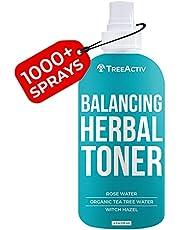 TreeActiv Balancing Herbal Toner   Remove Oil & Dirt   Natural Astringent to Balance Skin's pH Level   Rose Water, Clary Sage Water, Tea Tree Water & Witch Hazel   Men, Women, Teens   4 fl oz