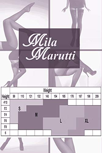 MILA MARUTTI Thigh High Stockings Pantyhose for Garter Belt Back Seamed Nylons