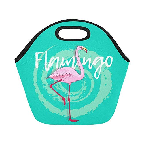 Theme Personalized Mint Winter (Feddiy Pink Flamingo Bird Reusable Insulated Lunch Tote Bag Cooler 11.4(29cm) X 11.4(29cm) X 6.3(16cm), Wild Animal Mint Green Portable Lunchbox Handbag for Men Women Adult Kids)