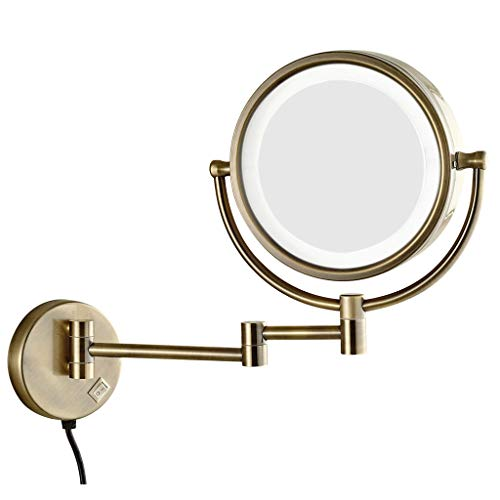 BWBW Makeup Mirrors Lighted 10x Magnifying, 360°Swivel 12