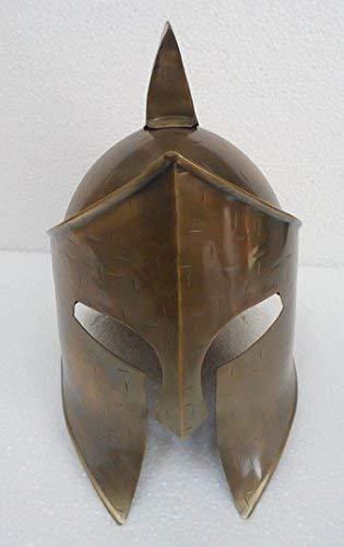 (HANDMADE VINTAGE ART Medeival Reenactment Warrior Greek Roman Spartan Helmet 18G Steel W Inner Liner Replica)