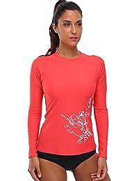 BeautyIn Womens Long Sleeve Rashguard Swimwear UPF 50+ Rash Guard Athletic Tops