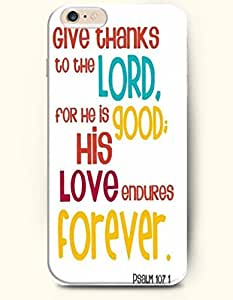 iPhone Case, Shani iPhone 6 (4.7) Hard Case **NEW** Case with the Design of Give thanks to the Lord. For He is...