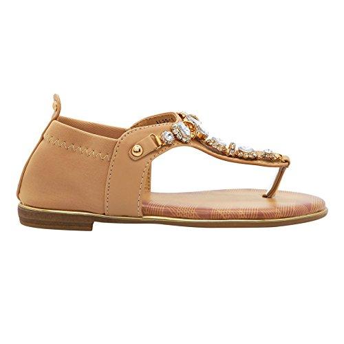 Footwear T London femme Barre Beige en 6HWUvwqU4a