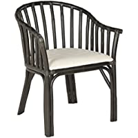 Safavieh Home Collection Gino Arm Chair, Black