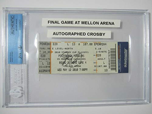 Sidney Crosby Penguins Autographed Signed Final Game Ticket From Mellon Arena 2010 Bgs Coa - Certified Signature
