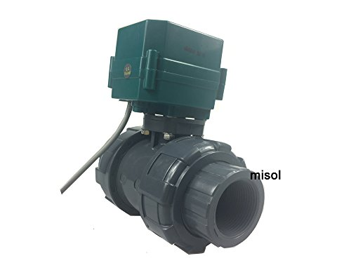 MISOL 1 pcs of motorized pvc valve 12V, DN40 BSP(1.5