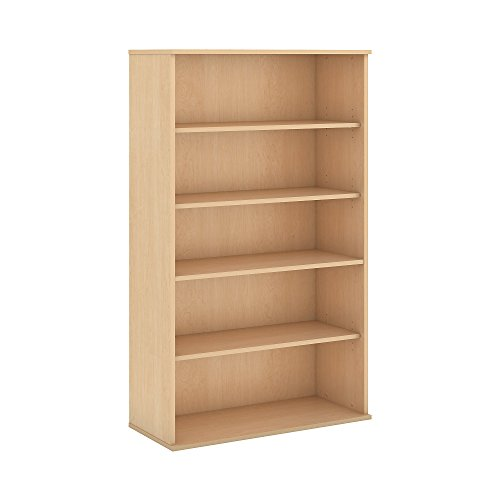 "Bush Business Furniture BK6636AC 5 Shelf Bookcase, 66"", Natural Maple"