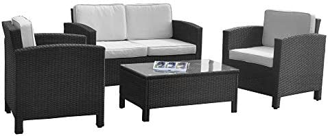 Amazon.de: XINRO 13tlg. Deluxe Lounge Möbel Set Gruppe Garnitur ...