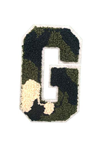 - G - Camouflage ON White Chenille 4.25