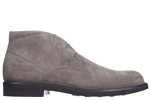 Tods botines zapatos en ante hombres nuevo caucho light gris