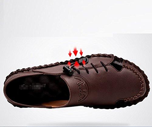 La en Respirant Chaussures Alpinisme Transpiration Casual Air Pantoufles en ZHANGM Respirant De Hommes Sandales Sandales Plein Conduite Sandales Marron Randonnée Deux Mode Porter Cuir D'été YfpXF6q