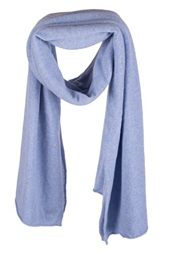 Ladies Ultrafine 100% Cashmere Scarf Wrap - Sky Blue - made in Scotland by Love Cashmere RRP $400 by Love Cashmere (Image #2)