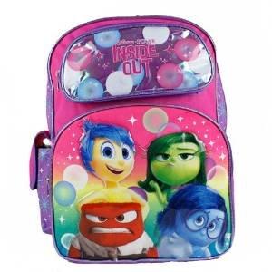"""Disney Pixar Inside Out Joy Sadness Anger Disgust Girls 16"""" School Backpack Bag"""