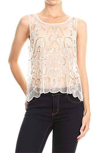 Bridal Embroidered Tank Top - 2