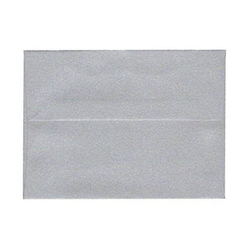 (JAM PAPER A6 Metallic Invitation Envelopes - 4 3/4 x 6 1/2 - Galvanized Silver Stardream - 25/Pack)