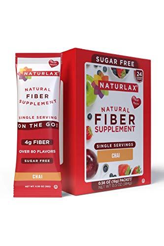 Naturlax Chai Flavored Psyllium Husk, 24 Fiber Packets