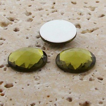 Olivine Jewel Multi Faceted - 13mm Round Cabochons - Lots of (Olivine Jewel)