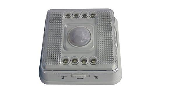 A-szcxtop infrarrojos Sensor PIR 6 LED lámpara de luz del Detector de movimiento inalámbrico de ajuste, no.2: Amazon.es: Iluminación