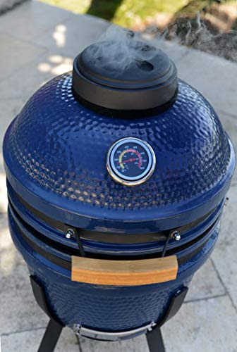 "Lonestar Chef SCS-K15B Charcoal Kamado Grill, 15"", Blue"