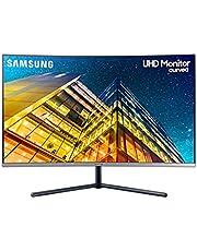 """Samsung LU32R590CWEXXS UHD Curved Monitor, 32"""", 16:9, 3840 x 2160, Black"""