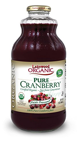 Lakewood Organic PURE Cranberry Juice, 32-Ounce Bottles (Pack of 6)
