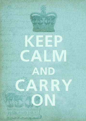 (Rectangle Refrigerator Magnet - Keep Calm and Carry On Crown w/Faded Background)