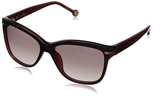 carolina-herrera-womens-she575-j61-wayfarer-sunglassesdark-red57-mm