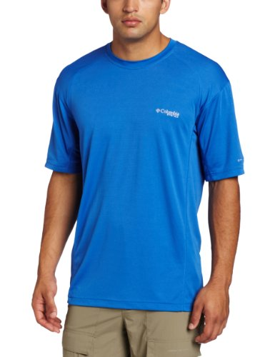 Columbia Men's Skiff Guide III Short Sleeve Shirt, Vivid Blue, Medium (Mens Skiff Guide)