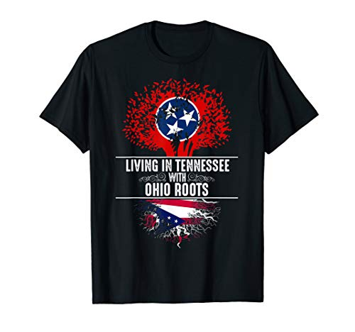 - Tennessee Home Ohio Roots State Tree Flag Shirt Love Gift