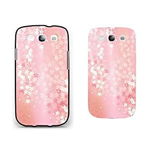 Pastel Floral Design Samsung Galaxy S3 Case Cover Light Pink Little Flowers Vogue Phone Case Skin for Girls