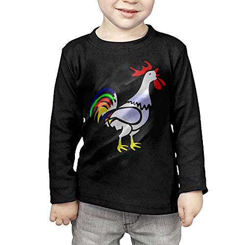 Rooster Clipart - CERTONGCXTS Little Boys Rooster Clipart ComfortSoft Long Sleeve Shirt