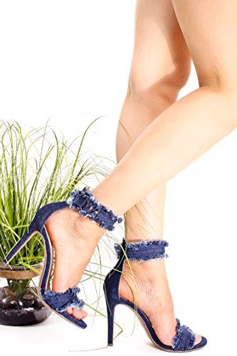 Correa Dinámica Fortune Ankle Con Hebilla Accent Stiletto High Heels Zapatos Dendbl