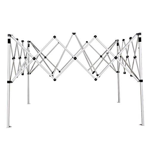 Abba Patio 8 x 8-Feet Slant Leg Instant Easy Pop Up Folding Canopy with Carry Bag, Tan