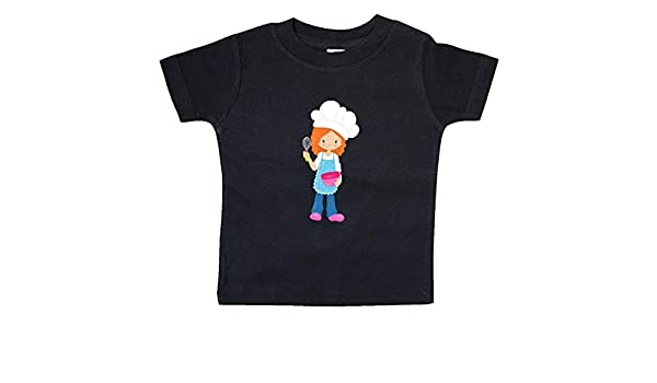Girl with Chefs Hat Orange Hair Toddler T-Shirt inktastic Baking Girl