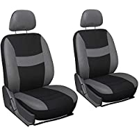 Motorup America Auto Seat Cover 6pc Set - Fits Select Vehicles Car Truck Van SUV - Gray & Black