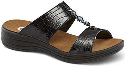 Dr. Comfort Women's Sharon Black Sandals by Dr. Comfort