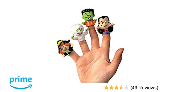 Puffy Finger Puppets 5x Children/'s Halloween Kids Trick Treat Party Bag Filler