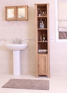 baumhaus mobel oak open bathroom unit tall