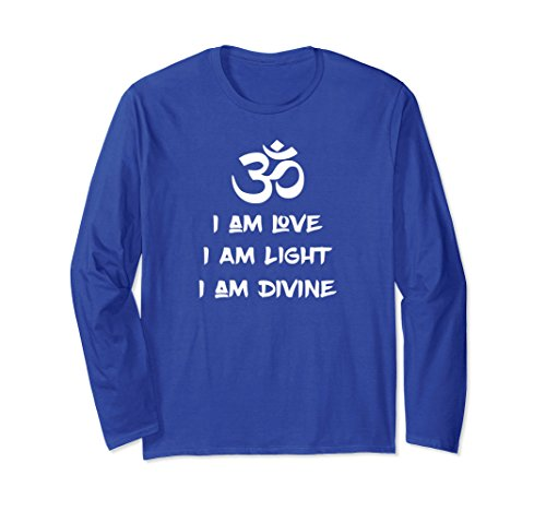 Unisex Yoga OM I Am Love Light Divine Reiki Holistic Healer T-Shirt Large Royal (Reiki Healer Lights)