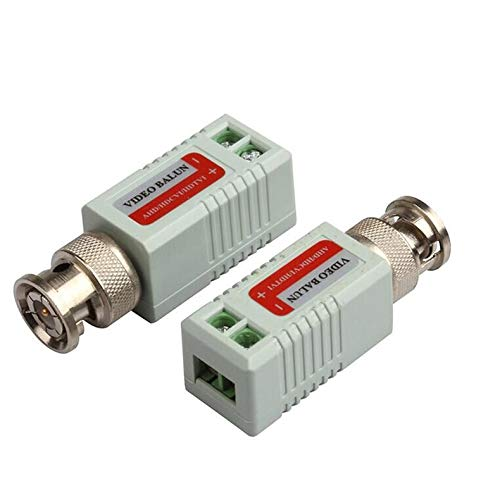 ZicHEXING Common Anti-Interference Single 1 Channel Passive Video Transceiver BNC Connector Coaxial Adapter for Balun CCTV Camera DVR BNC UTP