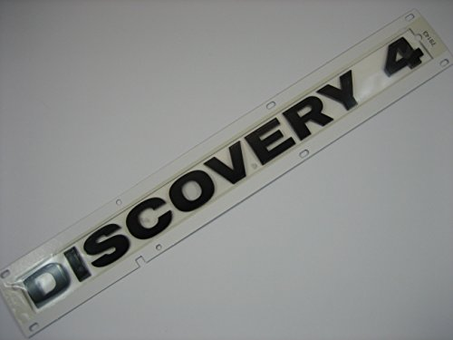 Genuine Land Rover Discovery 4 Rear Tail Gate Badge Emblem in Gloss Black
